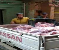 «شمال الجيزة» يضبط 720 كجم لحوم مذبوحة خارج المجازر الحكومية   صور