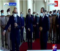 الرئيس السيسي يستمع إلى عرض حول مشروعات العلمين الجديدة| صور