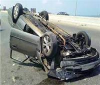 إصابة 4 أشخاص من أسرة واحدة في انقلاب سيارة بصحراوي البحيرة