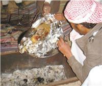 جنوب سيناء.. أكل الضأن والفراشيح وتناول الشاى بالحبك بالخيمة البدوية