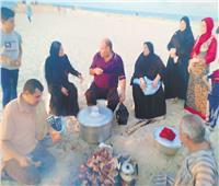 أكلات الأضحى  حفلات الشوى على شواطىء شمال شيناء