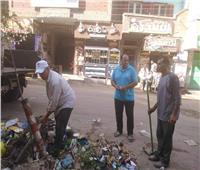 استمرار متابعةالنظافةورفع تجمعات القمامة بشبين الكوم في العيد
