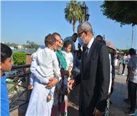 كورنيش بنها يتزين لاستقبال المواطنين خلال أيام عيد الأضحى بالقليوبية