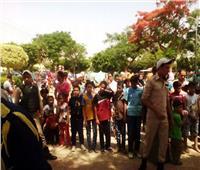 أهالي المنيا يواصلون احتفالاتهم بالعيد على كورنيش النيل