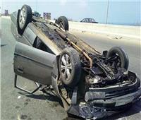 إصابة ٤ أشخاص فى انقلاب سيارة بمحور الضبعة الإقليمي