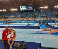 لاعب الجمباز عمر العربي ينهي تدريبه استعدادًا لأولمبياد طوكيو