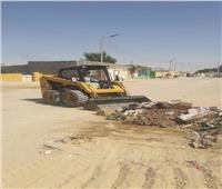 استمرار أعمال رفع مخلفات أضاحي العيد في مدن سيناء