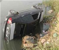سقوط سيارة ملاكي في الرياح التوفيقي بالقليوبية