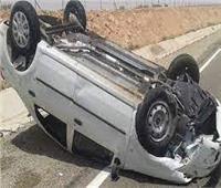 """إصابة 5 أشخاص في حادث انقلاب سيارة بطريق """"أسيوط - الخارجة"""""""