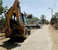 رفع 35 طن مخلفات وإزالة 5 حالات إشغال طريق بحي غرب المنيا