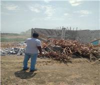إزالة تعديات فورية على الأراضي الزراعية بقنا ثاني أيام العيد