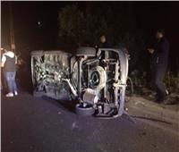 إصابة 6 أشخاص من أسرة واحدة في انقلاب سيارة بطريق العلمين