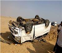 إصابة 13 شخصا فى انقلاب سيارة بالشرقية