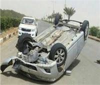 مصرع شخص وإصابة آخر في حادث انقلاب سيارة بطريق مطروح