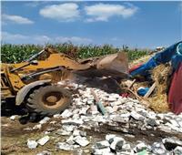 استمرار إزالة التعديات على الأراضي الزراعية بأشمون