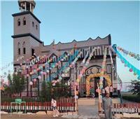 أهالي كفر الشيخ يزينون مسجدًا ابتهاجًا بعيد الأضحى| صور