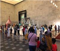 صور  إقبال كثيف على زيارة المتحف القومي للحضارة خلال العيد