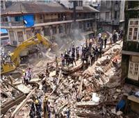 قتلى وجرحى بانهيار مبنى سكني في مومباي نتيجة الأمطار الغزيرة