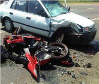 إصابة 5 أشخاص في تصادم سيارة بدراجة نارية في القليوبية