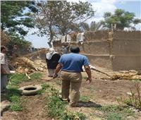إزالة التعديات على الأراضي الزراعية بقرى ومراكز المنوفية