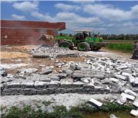 إزالة 10 حالات تعدي على الأراضى الزراعية بالشرقية