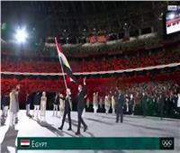 أولمبياد طوكيو 2020.. شاهد العلم المصري في حفل الافتتاح