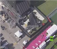 انهيار شاشة عملاقة قبيل انطلاق مهرجان للموسيقى في الولايات المتحدة  | فيديو