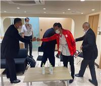 وزير الرياضة يلتقي رئيس اللجنة الأولمبية اليابانية خلال حضوره منافسات الأولمبياد