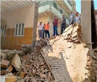 انهيار جدار دون إصابات بشرية بفيشا الصغرى بالباجور