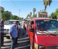 حملات مرورية ابوقرقاص لمتابعة المواقف وعدم زيادة تعريفة المواصلات
