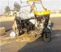 إصابة 3 أشخاص بحادث انقلاب توك توك في بني سويف