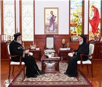 البابا تواضروس يستقبلالأنبا توماس