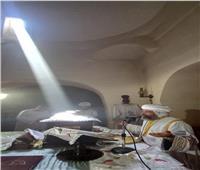 الأنبا صليب يصلي قداس عيد مارجرجس في كنيسته بميت غمر