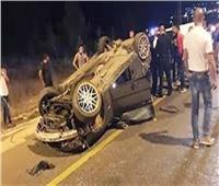 خروج7 مصابين بعد تعرضهم لحادث مروري بـ«صحراوي المنيا»