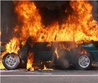 السيطرة على حريق بسيارة أمام مستشفى الشرطة بأسيوط