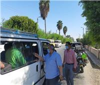 استمرار الحملات على المواقف ومحطات الوقود بالمنيا   صور