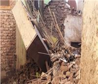 انهيار منزل خالٍ من السكان في قنا