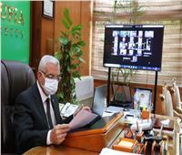 رئيس جامعة المنوفية يوجه بسرعة الانتهاء من مراجعة نتائج الكليات