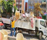 حملة موسعة لرفع الإشغالات بشوارع وميادين حي الهرم