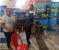 تحرير ٢٧ محضر لعدم إرتداء الكمامات ومصادرة ١٣ شيشة بالبحيرة