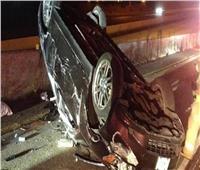 مصرع أب وإصابة ٦ من أسرته في انقلاب سيارة بطريق الضبعة الإقليمي