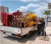 رفع 453 حالة إشغال طريق مخالفة بنطاق 4 مراكز بالبحيرة