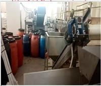 ضبط 65 طن مخللات داخل مصنع بدون ترخيص بالمنوفية