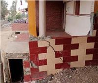 تصدع 4 منازل بسبب هبوط أرضي بقرية «آبا الوقف» في المنيا