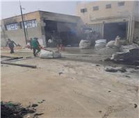 حريق هائل بمصنع للمنسوجات بالعاشر من رمضان