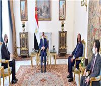 الرئيس السيسي يستقبل وزير الخارجية الأردني