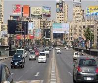 الحالة المرورية بطرق ومحاور القاهرة والجيزة