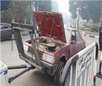 رفع 52 سيارة ودراجة نارية متهالكة لعدم استخدامها في أعمال تخريبية