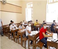 ارتياح بين طلاب الثانوية العامة لسهولة امتحان علم النفس بدمياط