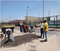الانتهاء من أعمال رصف طريق «كورنيش المنيا»
